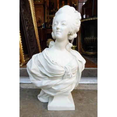 Biscuit Bust Representative Marie Antoinette After Lecomte
