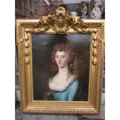 Portrait De l'école Anglaise Du XVIII Eme