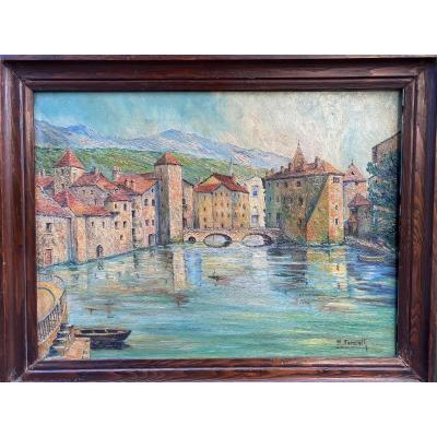 Oil On Canvas Signed M. Forcioli