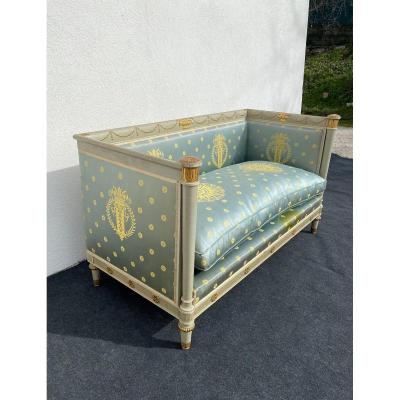 Directoire Alcove Sofa In Lacquered Wood