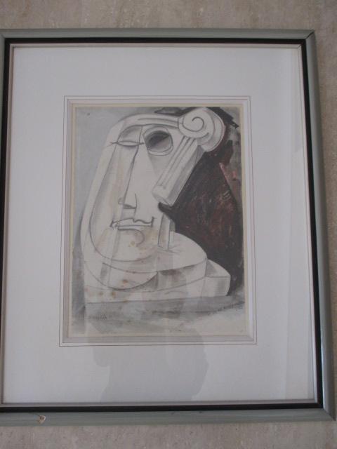 """Waroquier (henri De ...) 1881/1970 Drawing """"cubic Period"""" """""""
