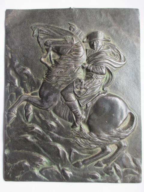 Bonaparte franchissant le Grand Saint-bernard  plaque en bronze