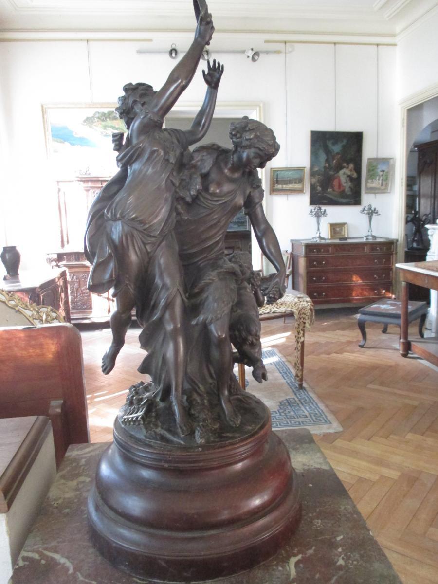 "Clodion - Bronze ""the Bacchanals"""