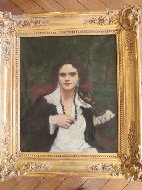 Pierre-georges Jeanniot Oil On Canvas