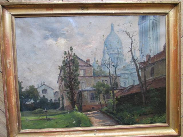"""Montmartre """"le Sacre Coeur"""" Hst"""