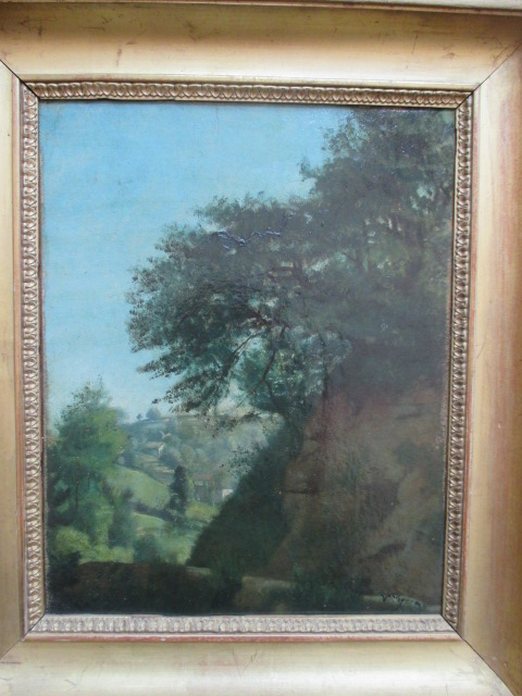 Vignon Victor ( 1847-1909 ) Paysage de montagne