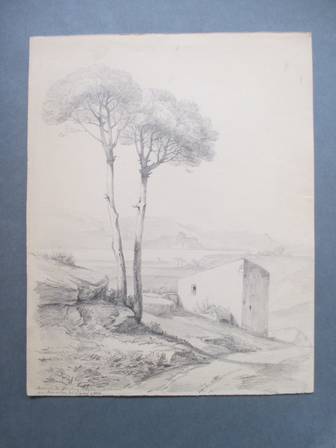 """""""from Around Martigues"""" Drawing - 1854"""