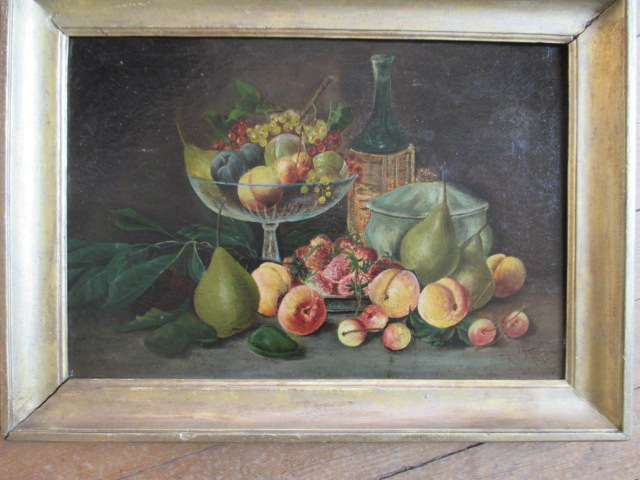 "Nature morte  "" Fruits...""   HST    A. PRIVAT  1912"