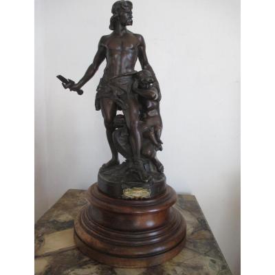"Boisseau E. ( 1842-1923 )  Bronze    "" La défense du foyer  """