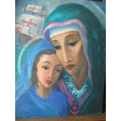 "Leroy Paul (1860 - 1942) ""woman And Girl"""