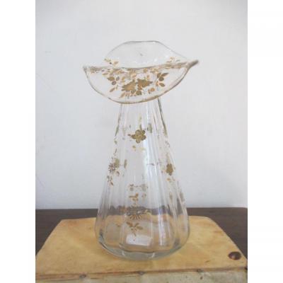 "Gallé Emile  "" Vase  en  cristallerie """