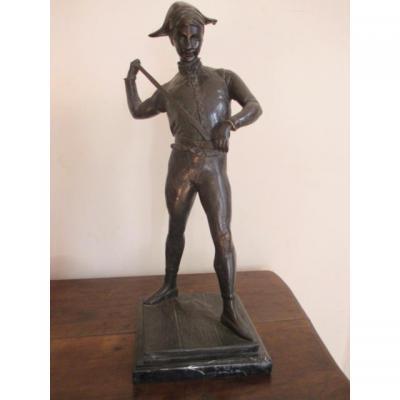 """ ARLEQUIN ""  bronze    PAUL DUBOIS"
