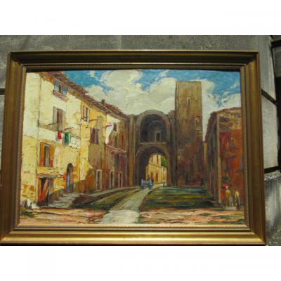 "Genin Laurent (1894-1953) ""  PORTE SARRAZINE  ""  A   BARBANTANE     HST"