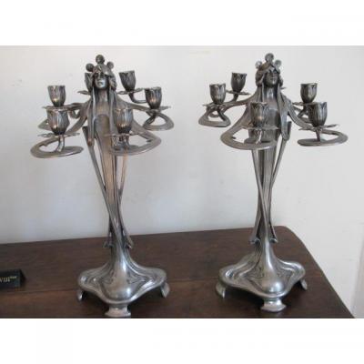 Bougeoir chandelier ancien sur proantic art d co for Proantic art deco