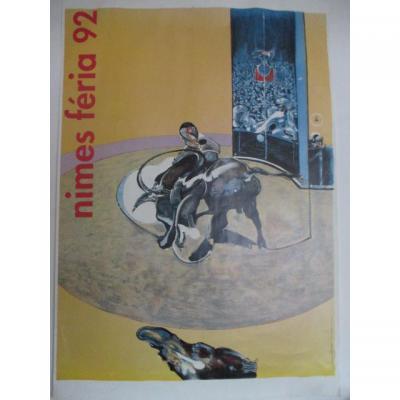 Bacon Francis    Affiche originale de la Feria de Nimes 1992