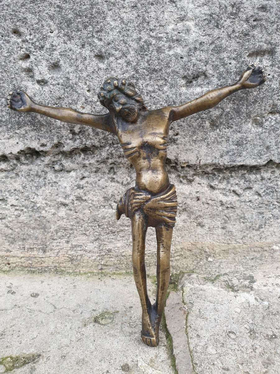 Very Beautiful Christ In Bronze XVth