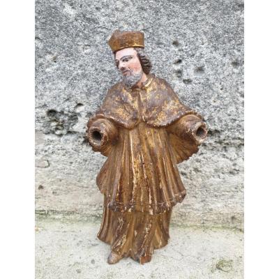 Charming Baroque Deacon In Golden Linden. Around 1600