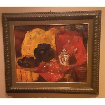 Still Life, Oil On Canvas          Amerigo Tamburrino