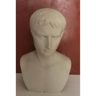 Bust Of Lucius Caesar Sculpture In Resin And Marble Dust Made From A Cast Iron