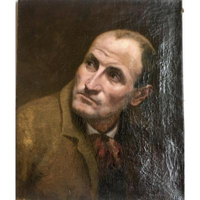 Portrait d'Homme École Française  Du XIXe Siècle