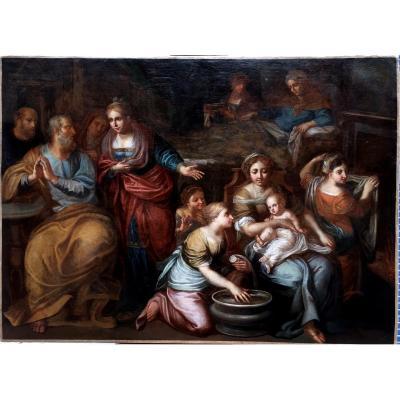 Workshop Of Murillo, Bartolomé Esteban Murillo (1617-1682 Spain) Birth Of The Virgin