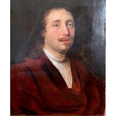 Portrait D'homme Suiveur De Govert Flinck (1616-1660)