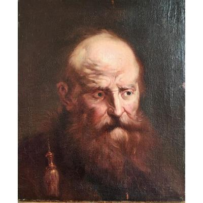 Portrait D'homme Du 17ème Siècle Suiveur De Jacob Jordaens (1593-1678)