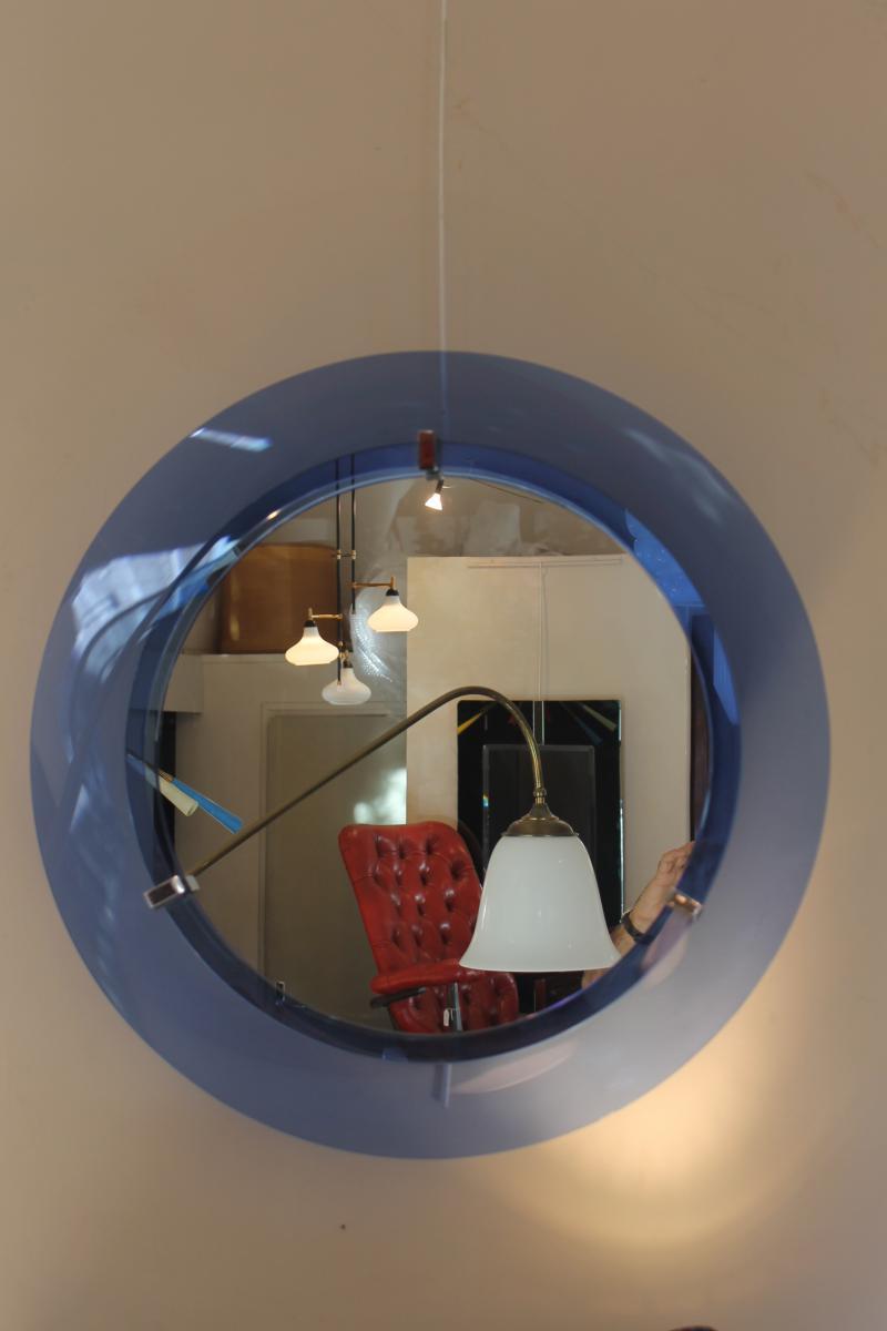 Miroir Bleu Italien Annee 60