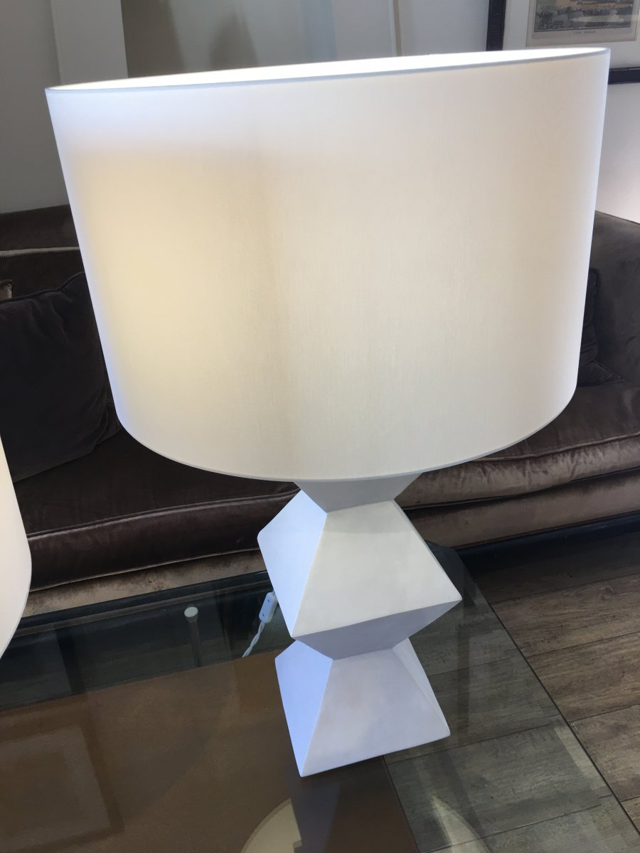 Pair Of Plaster Lamps-photo-6