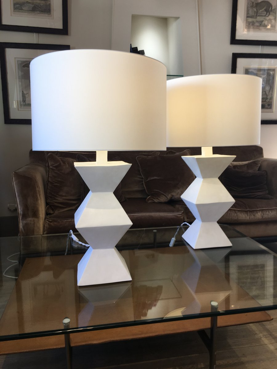 Pair Of Plaster Lamps-photo-7