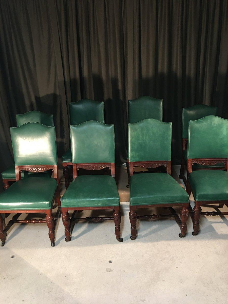 Series Of 8 English Chairs-photo-2