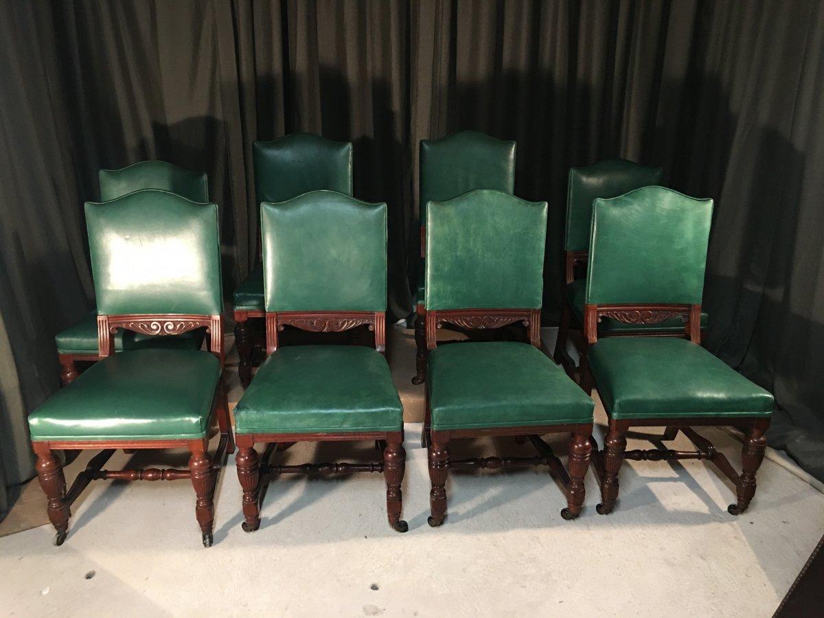 Series Of 8 English Chairs-photo-7