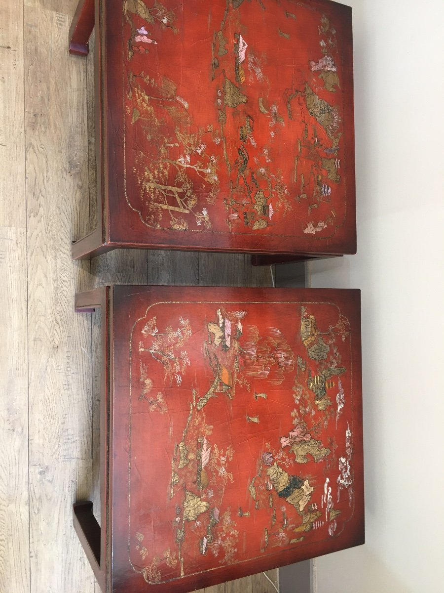 Pair Of China Tables XX Eme-photo-2