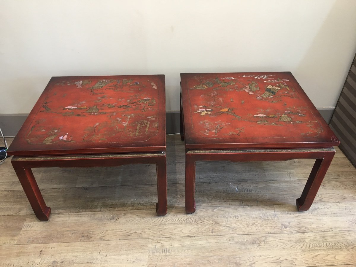 Pair Of China Tables XX Eme-photo-7
