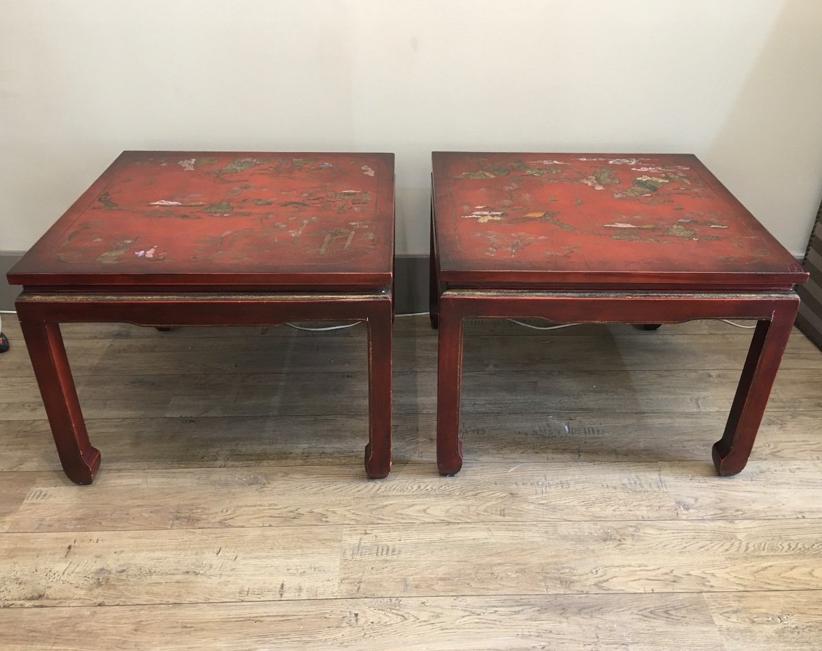 Pair Of China Tables XX Eme