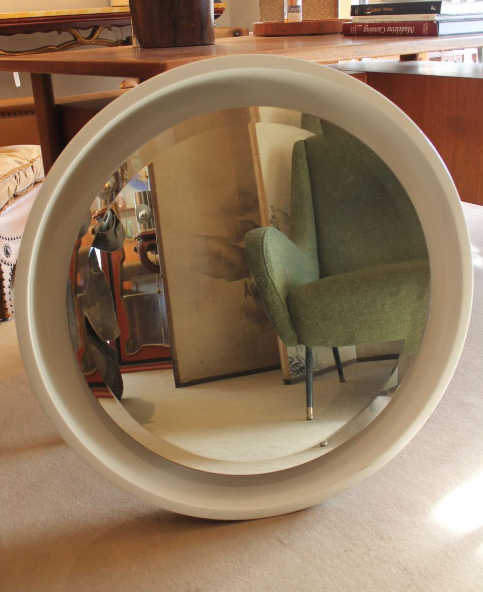 Miroir Rond Blanc 70