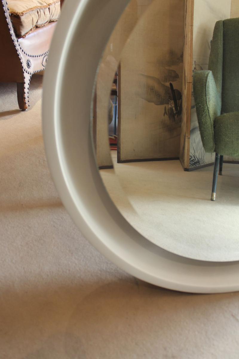 Miroir Rond Blanc 70-photo-2