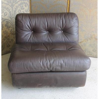 Pair Armchairs Bellini Leather