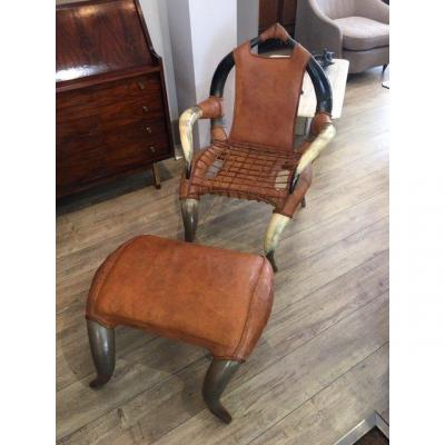Ottoman Leather Chair XX Th