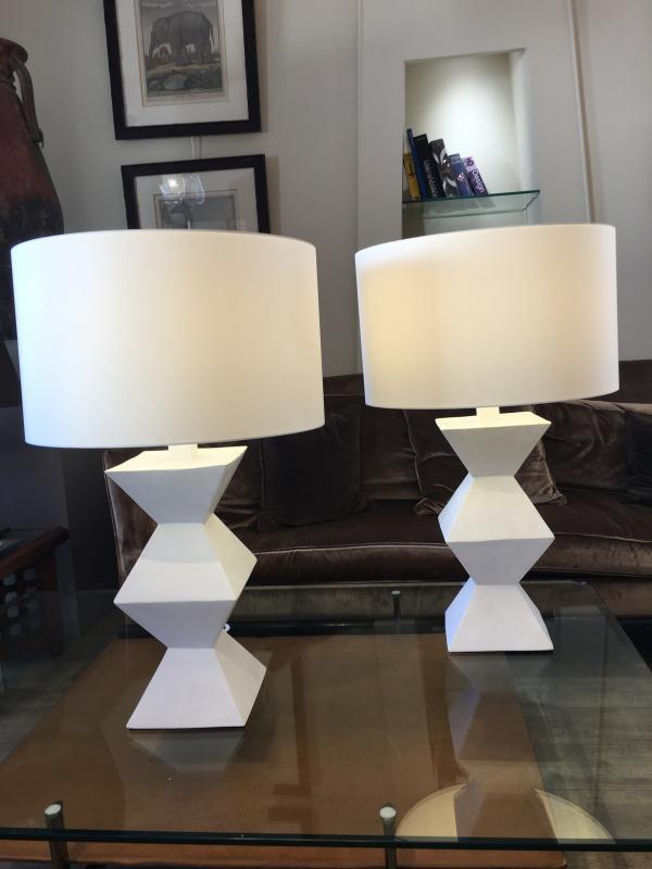 Pair Of Plaster Lamps-photo-2