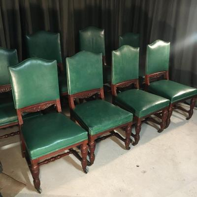 Series Of 8 English Chairs