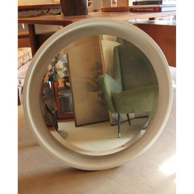 Round Mirror White 70