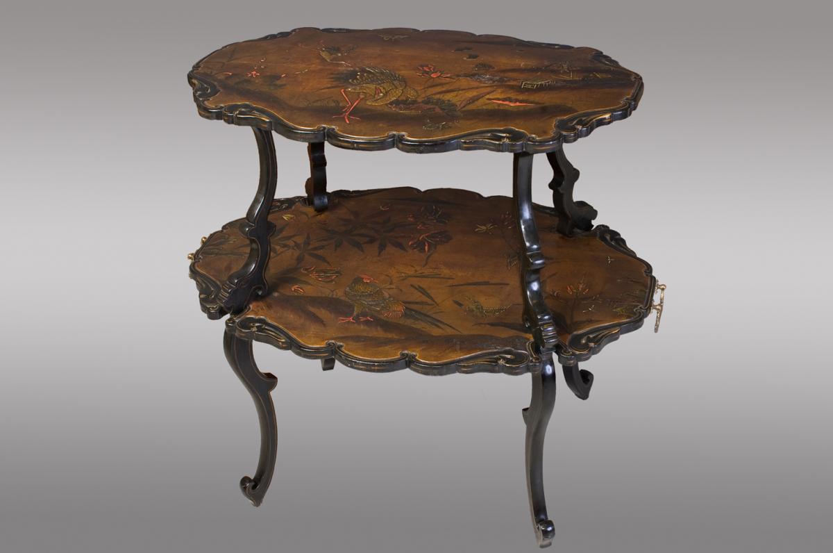 Table d'Appoint Laquée Franc;aise. Vers 1880