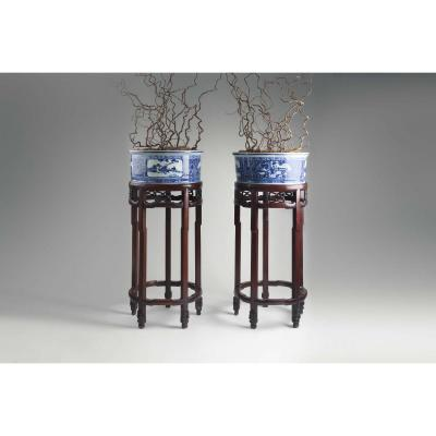 Exceptional Couple Of Chinese Planters. Around 1900