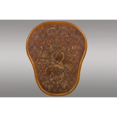 Médaillon Français en cuir gaufré .XIXème Siècle