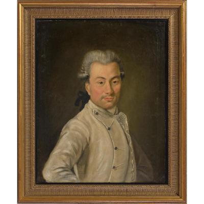 Portrait d'un personnage autrichien de la fin du 18ème siècle.