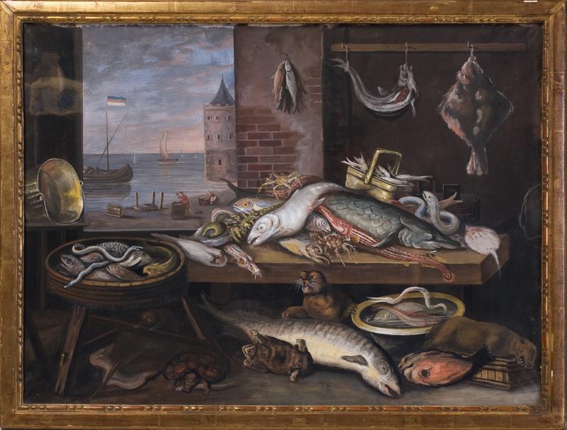 Paire de Gouaches, Natures Mortes  école Hollandaise. Fin dixhuitiéme siècle. -photo-3