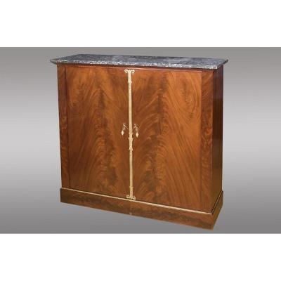Mahogany Support Height Cabinet. High Quality. Empire Period