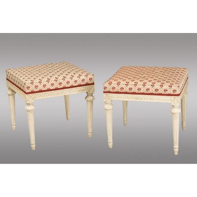 Swedish Lacquered Benches. Louis XVI