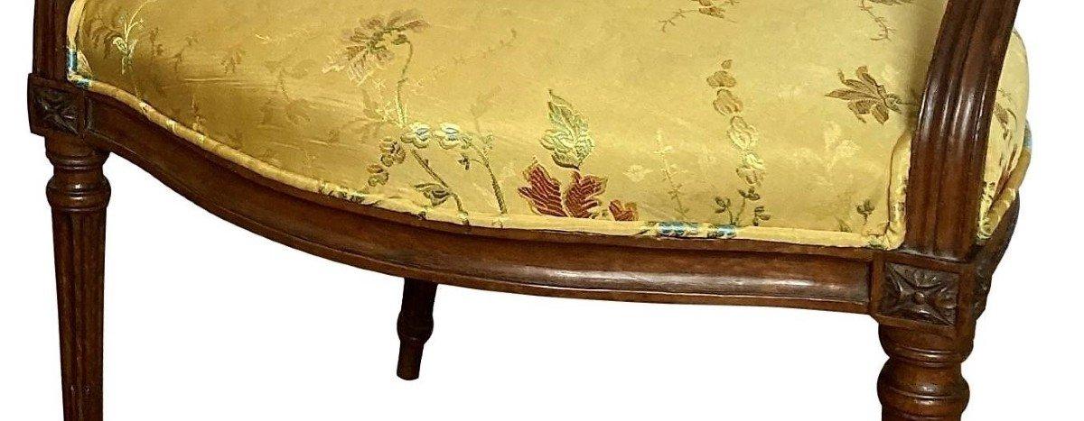 Paire De Fauteuils Epoque Louis XVI-photo-1